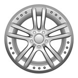 Car wheel on a white background
