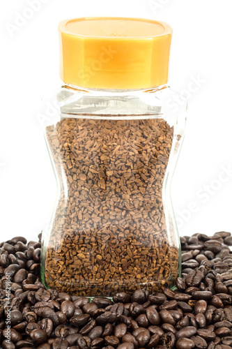 instant coffee bottle