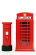 London postbox and telephone booth