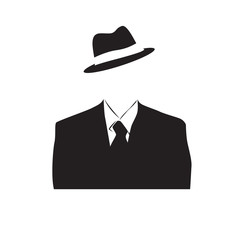 Logo Anonymous, invisible man # Vector