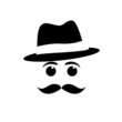 Logo mustache and hat # Vector