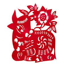 Zodiac Chinese Paper-cutting (ox)