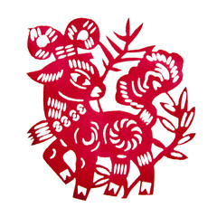 Zodiac Chinese Paper-cutting (Sheep)