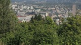 Panning Scenic View of Portland Oregon Cityscape poster