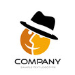 Logo double-sided with hat # Vector