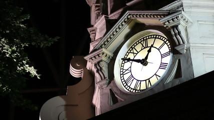 night clock tower 1 am