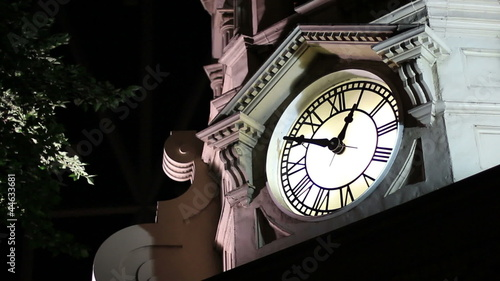 night clock tower 1 am
