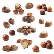 collection of chocolate pralines