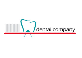 Logo toothpaste and toothbrush. Dental # Vector