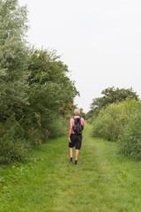 Hiking senior man