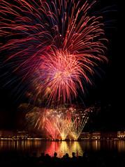 Feuerwerk auf der Binnenalster  in Hamburg