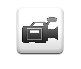 Boton cuadrado blanco simbolo video