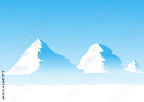 Icebergs , vector file
