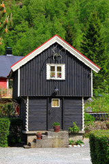 Traditional norwegian house in Flam