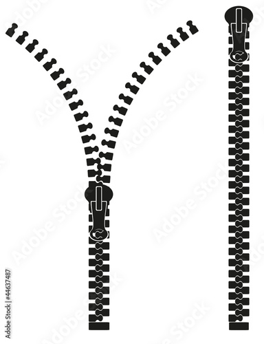 zipper silhouette vector illustration