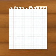 Sheet Of Paper On Wooden Background