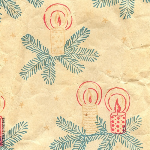 creased vintage christmas paper background texture
