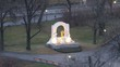 Gilded monument to Johann Strauss - to son stands in Stadtpark