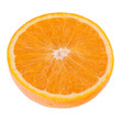 Sliced orange fruit half