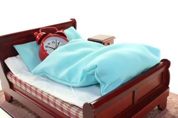 Verschlafen im Bett