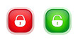 open padlock closed padlock icons
