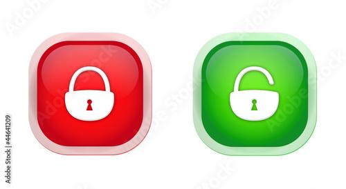 open padlock closed padlock icons