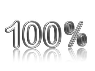 100 percent  in silver
