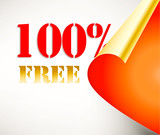 Vector promotion free coupon poster