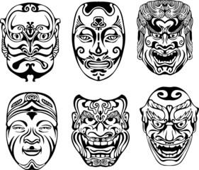 Japanese Nogaku Theatrical Masks