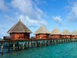 over water bungalows on maldives