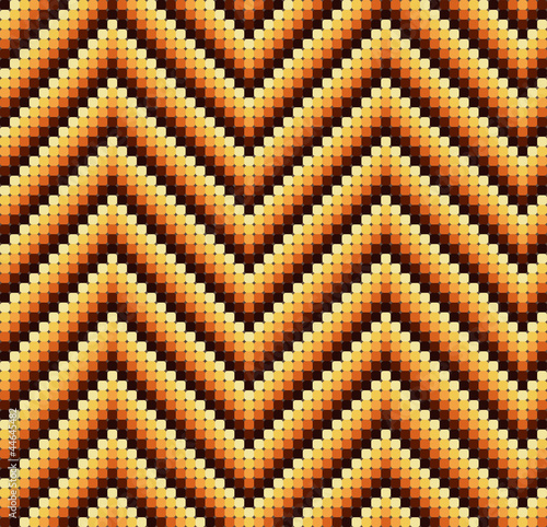 Seamless 60s Retro Zigzag Pattern Warm