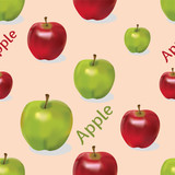 Apples in seamless commercial composition