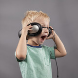 Boy Singing With Headphones