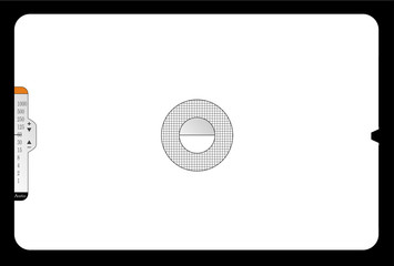 Classic SLR viewfinder, with free space for  pics, vector