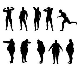 Silhouette Bodybuilder e Obeso
