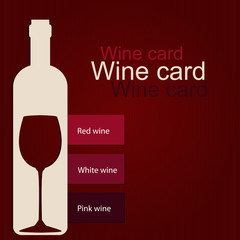 Template of a wine card
