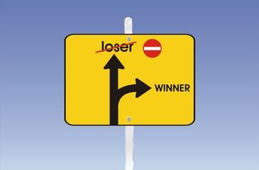 pancarte winner ou loser