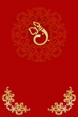 Greetings & Invitation card with Ganesha,India