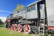 Old locomotive, Haapsalu, Estonia.