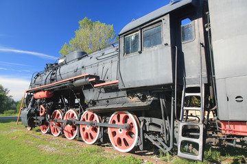 Old locomotive, Haapsalu, Estonia.