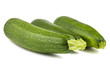 Three fresh green zucchini