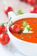 tomatensuppe mit frischer petersilie