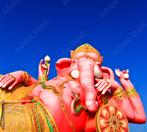 Elephant-headed god at Chachoengsao, Thailand