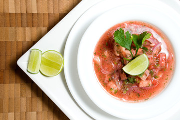 Ecuadorian food series: shrimp ceviche