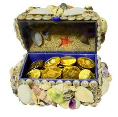 Jewelry box decorated  seashells