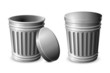 vector illustration of trash can against white background
