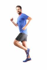 Läufer mit Blickkontakt