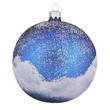 Painted christmas ball