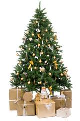 gold geschmückter weihnachtsbaum