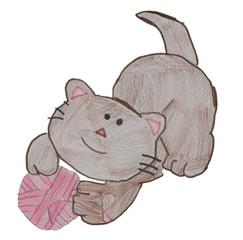 Gatto disegnato da un bambino